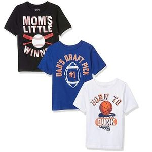 LOT of 3 Graphic Sport Tees for Toddlers CUTE!